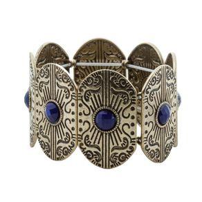 Bracelete-Boho-Dourado-Envelhecido-Pedra-Azul