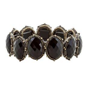 Bracelete-Pedra-Oval-Preta