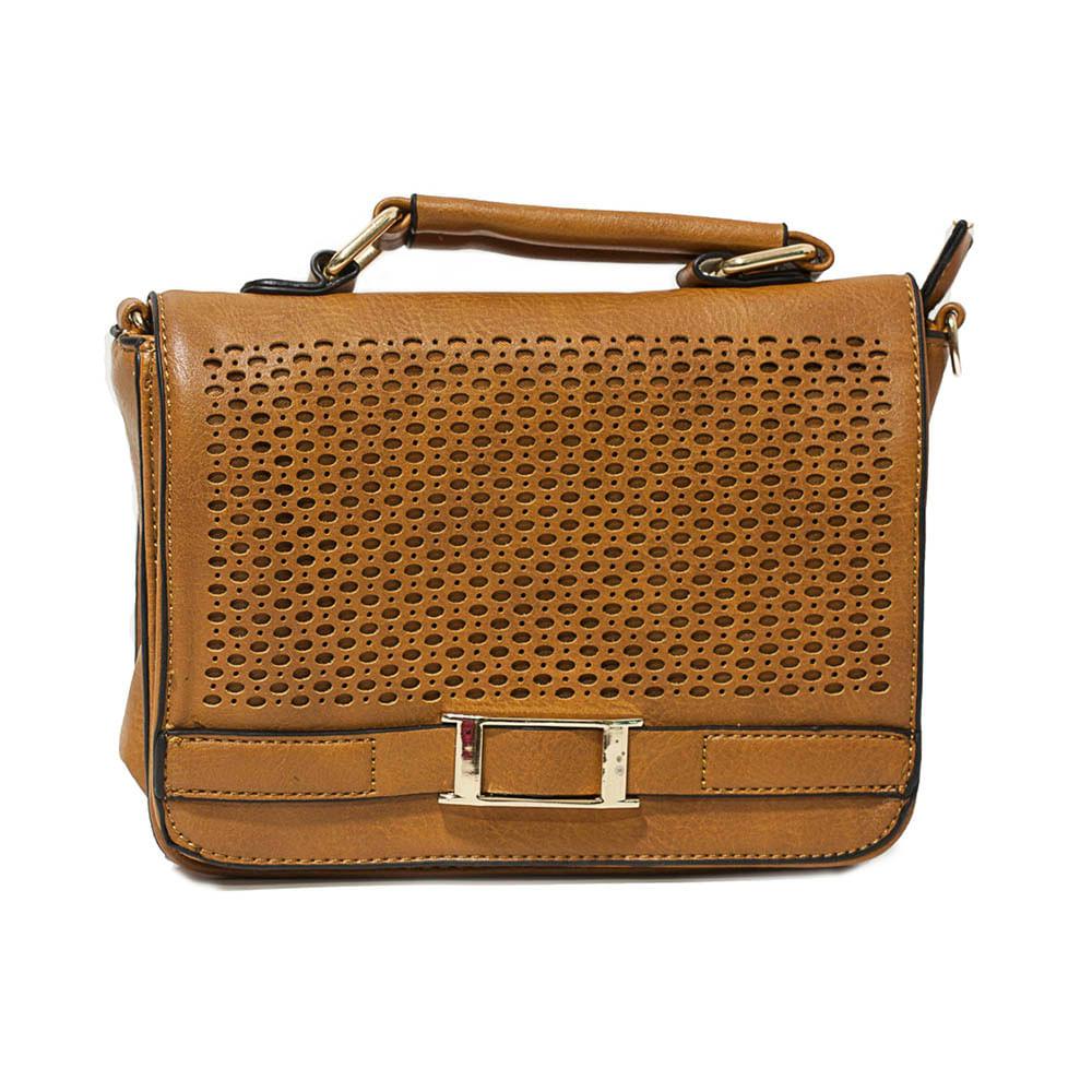 bb5e294db Bolsa Feminina Pequena com Detalhe Frontal Vazado - Fashion Biju