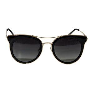 Oculos-de-Sol-Feminino-Arredondado-Lente-Preta-e-Detalhes-em-Dourado