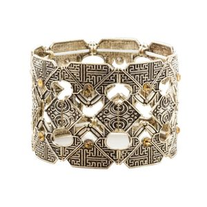 Bracelete-Strass-Dourada