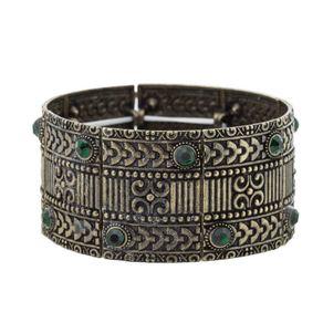 Bracelete-Bohemian-Ouro-Velho-Verde