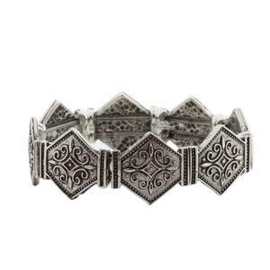 Bracelete-Losangos-Prata