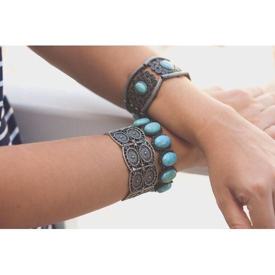 Braceletes-Pedra-Turquesa