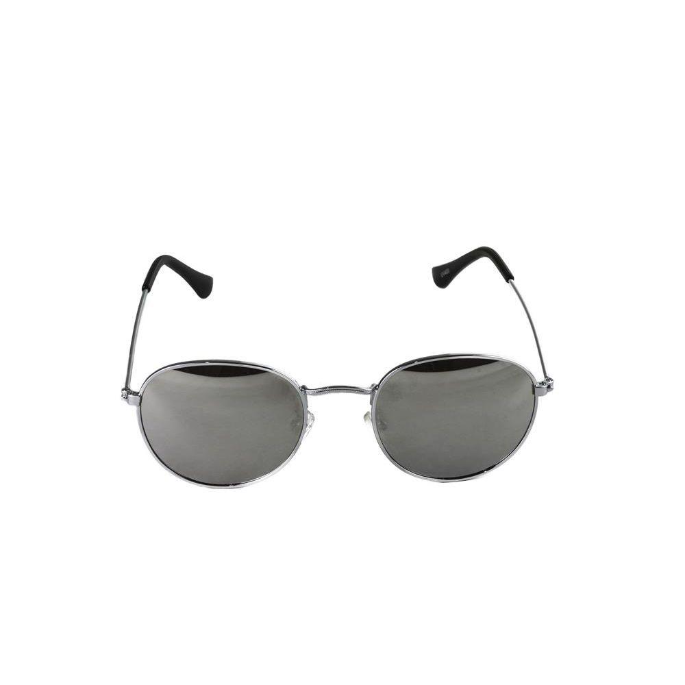 cec23a0f5 Óculos de Sol Feminino Round Prateado Lente Espelhada - Fashion Biju