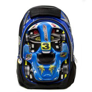 mochila infantil 3d carro fórmula 1