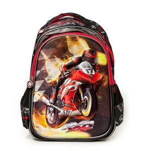 mochila infantil 3d moto