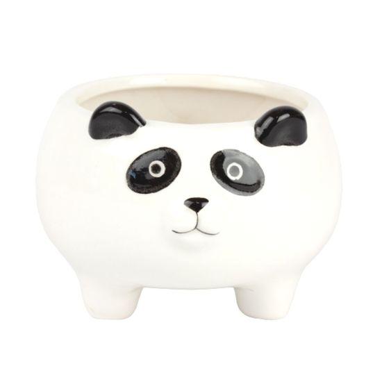 Vaso Cachepô Decorativo Urso Panda - Branco