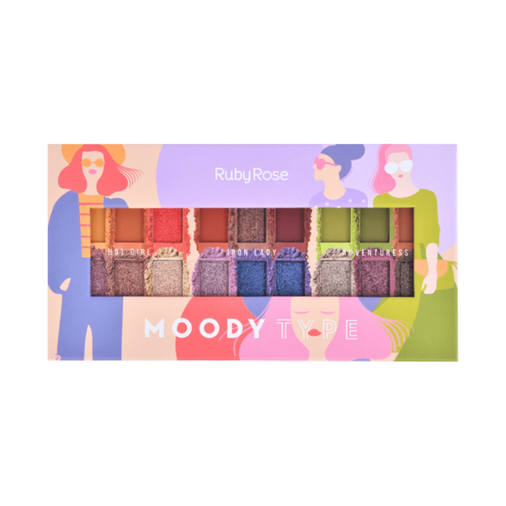 Paleta de Sombras Moody Type Ruby Rose - Único