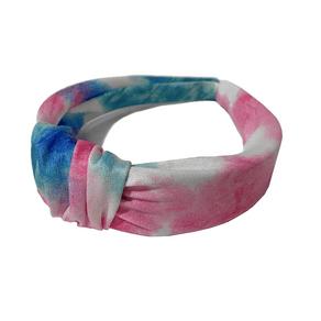 Tiara com Nó Tie Dye