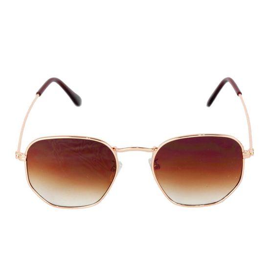 oculos-de-sol-hexagonal-rose-marrom