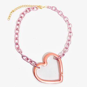 colar-corrente-colorido-com-pingente-de-coracao-grande-rosa-cobre