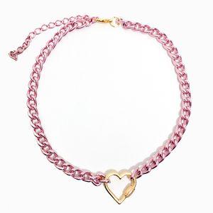 colar-corrente-colorido-com-pingente-de-coracao-pequeno-rosa-dourado