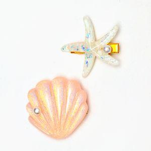 presilha-de-concha-e-estrela-do-mar-rosa-e-branca