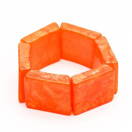 pulseira-bracelete-madreperola-quadrada-laranja