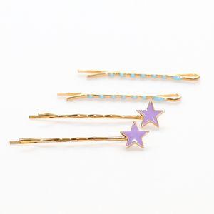 kit-grampo-dourado-de-estrela-lilas-e-azul-claro