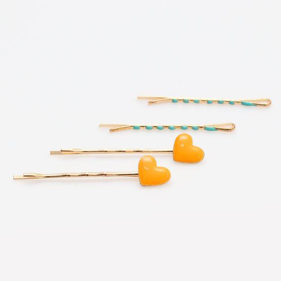 kit-grampo-dourado-de-coracao-laranja-e-verde