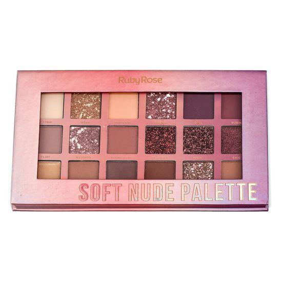 Paleta de Sombras Soft Nude Palette Ruby Rose