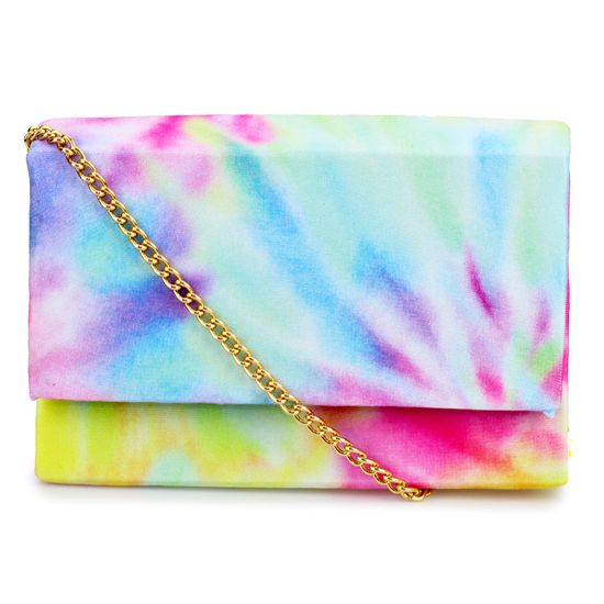 Bolsa Clutch Tie Dye Fashion Biju