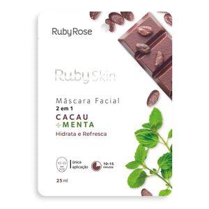Mascara-Facial-de-Tecido-Cacau-e-Menta-Skin---Ruby-Rose