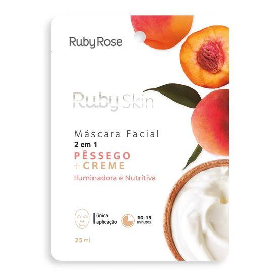mascara-facial-de-tecido-pessego-e-creme-skin-ruby-rose