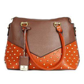 bolsa-grande-de-ombro-bicolor-com-taxinhas-marrom-e-laranja