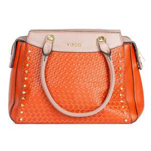 bolsa-grande-de-ombro-com-textura-e-taxinhas-laranja-e-bege