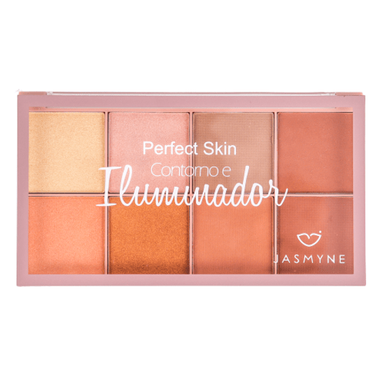 Paleta de Contorno e Iluminador Perfect Skin Jasmyne