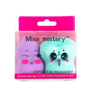 kit-de-esponjas-para-limpeza-facial-e-maquiagem-blend-miss-mistery-roxa-e-verde