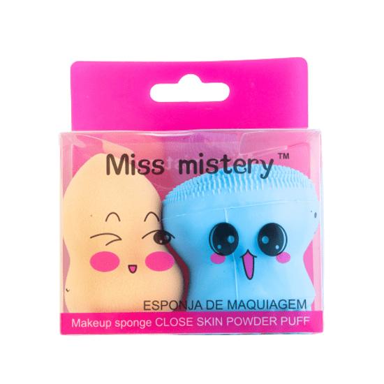 kit-de-esponjas-para-limpeza-facial-e-maquiagem-blend-miss-mistery-bege-e-azul