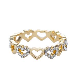 anel-Dourado--de-mini-coracoes-com-strass