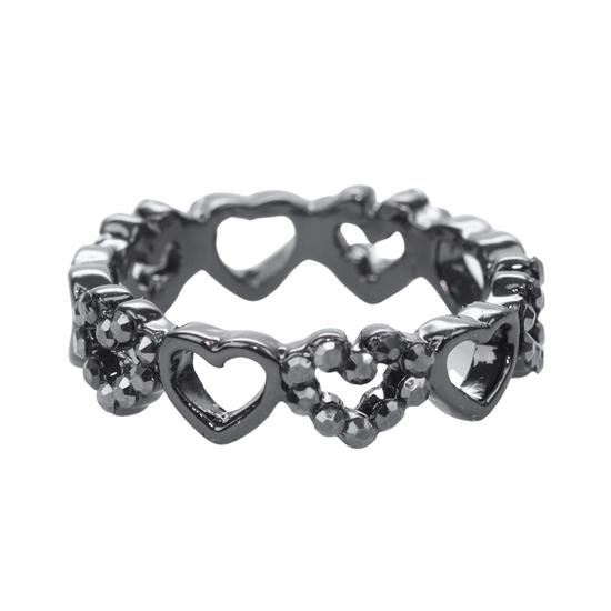 anel-grafite-de-mini-coracoes-com-strass