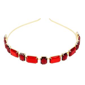 Tiara de Pedraria Jasmyne-vermelha
