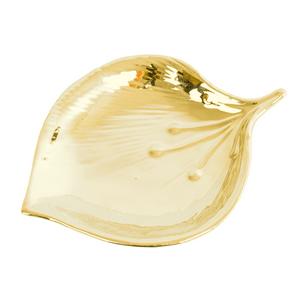 porta-joias-Decorativo-de-folha-dourado