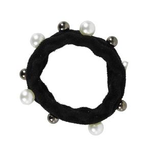 Kit-de-Elastico-sanfonado-Para-Cabelo-Com-Perolas-preto