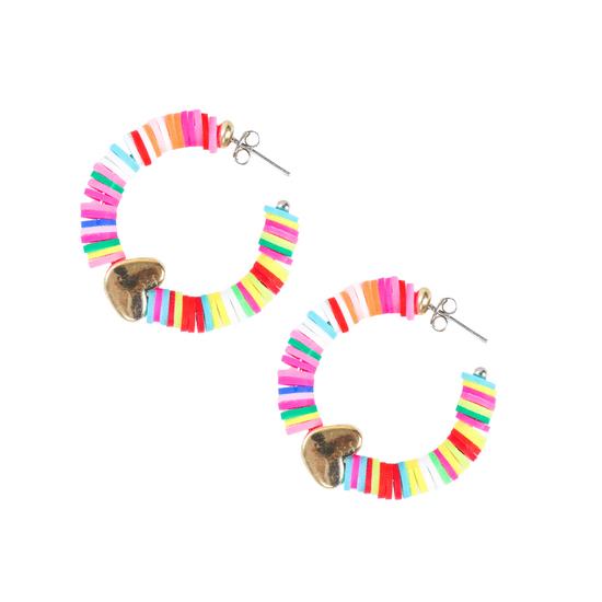Brinco-de-Argola-Pequena-Com-Borracha-Colorida-colorido