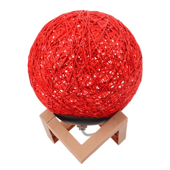 bola-de-barbante-luminosa-vermelha