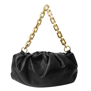 Bolsa-Pequena-Franzida-Com-Alca-de-Corrente-preta