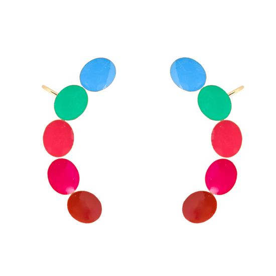 Brinco-de-Bolinhas-Coloridas-Ear-Cuff