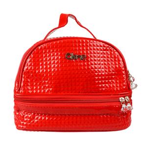 Bolsa-termica-com-textura-Envernizada-pequena-ciesne-vermelha