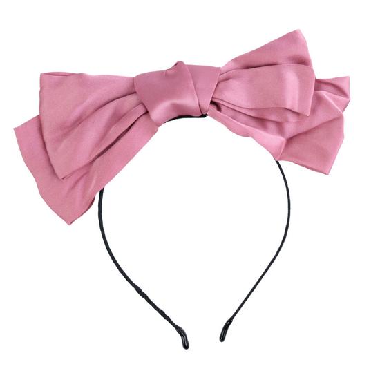 Tiara-Fina-Com-Laco-de-Tecido-Liso-rosa