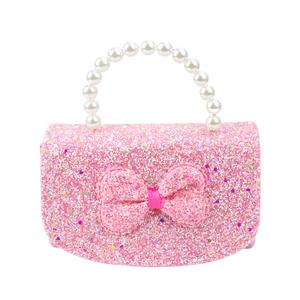 Bolsa-Infantil-com-Alca-de-Perola-e-Glitter--rosa
