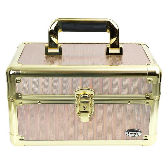 Maleta-de-Maquiagem-Profissional-bicolor-Media-Rubys-furta-cor-e-dourado