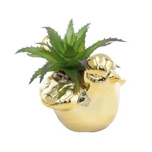 Enfeite-Decorativo-de-Passaro-Com-Suculenta-Artificial-dourado