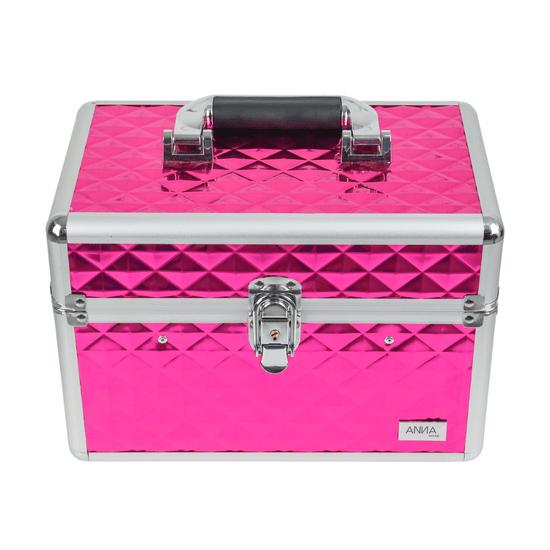 Maleta-de-Maquiagem-Grande-Texturizada-Anna-Make-rosa-pink