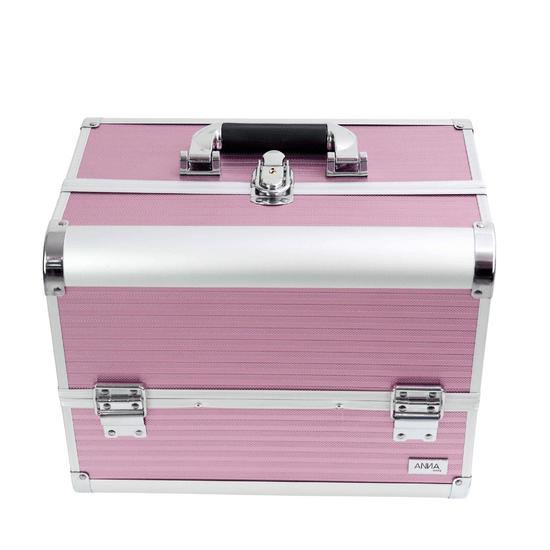 Maleta-de-Maquiagem-GG-Texturizada-Anna-Make-rosa