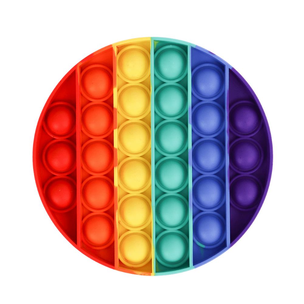 Brinquedo Anti Stress Pop It Bolha Sensorial Redondo Colorido - Único