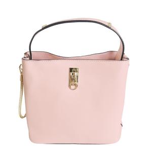 Bolsa-Pequena-Lisa-Com-Textura-em-Couro-Sintetico-rosa