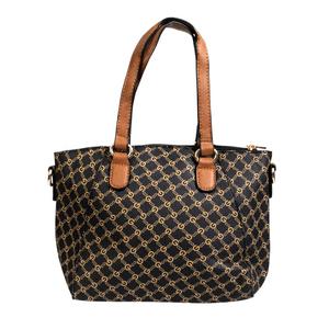 Bolsa-Pequena-Estampada-Com-Textura-em-Couro-Sintetico-preta
