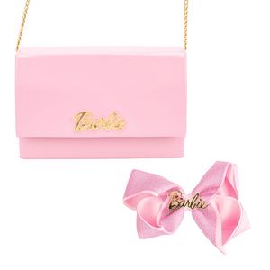 Kit-Bolsa-Clutch-Infantil-e-Laco-Para-o-Cabelo-Barbie-modelo-1